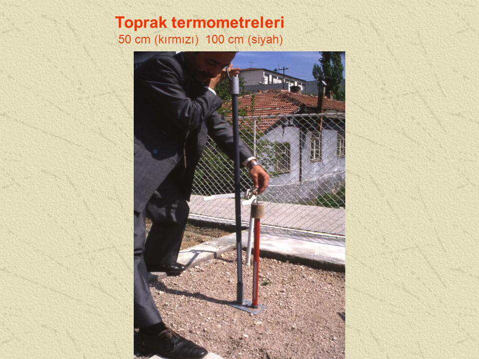 Toprak termometreleri 50 cm (kırmızı) 100 cm (siyah)