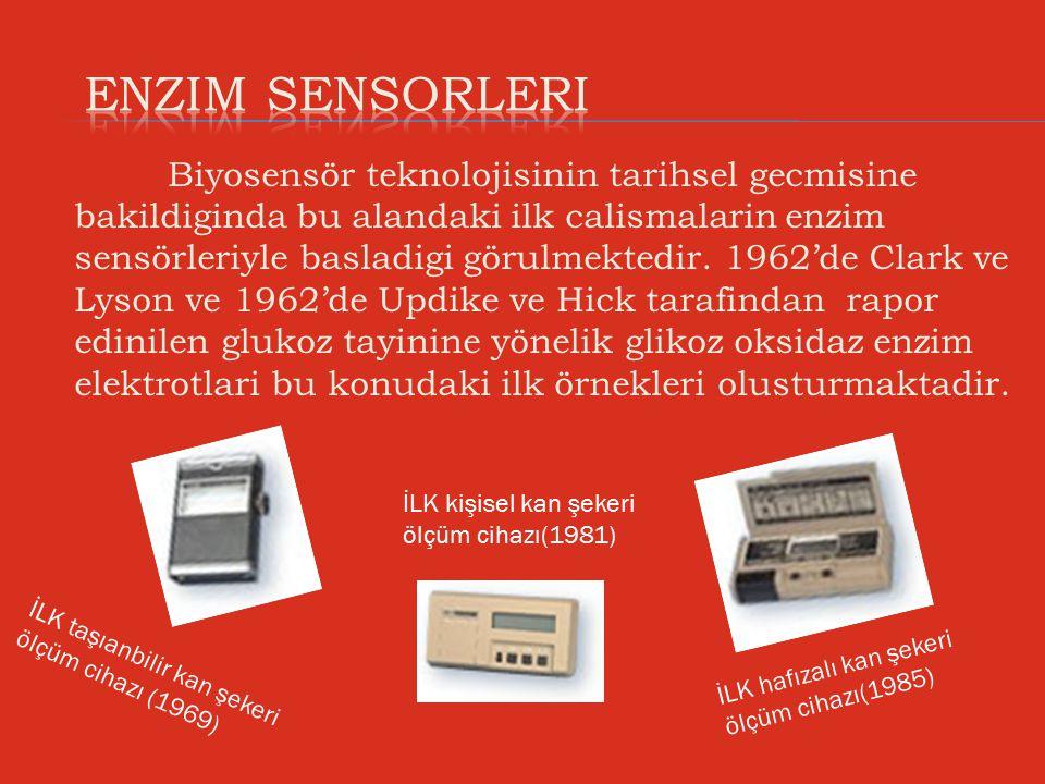 Biyosensör teknolojisinin tarihsel gecmisine bakildiginda bu alandaki ilk calismalarin enzim sensörleriyle basladigi görulmektedir. 1962'de Clark ve L