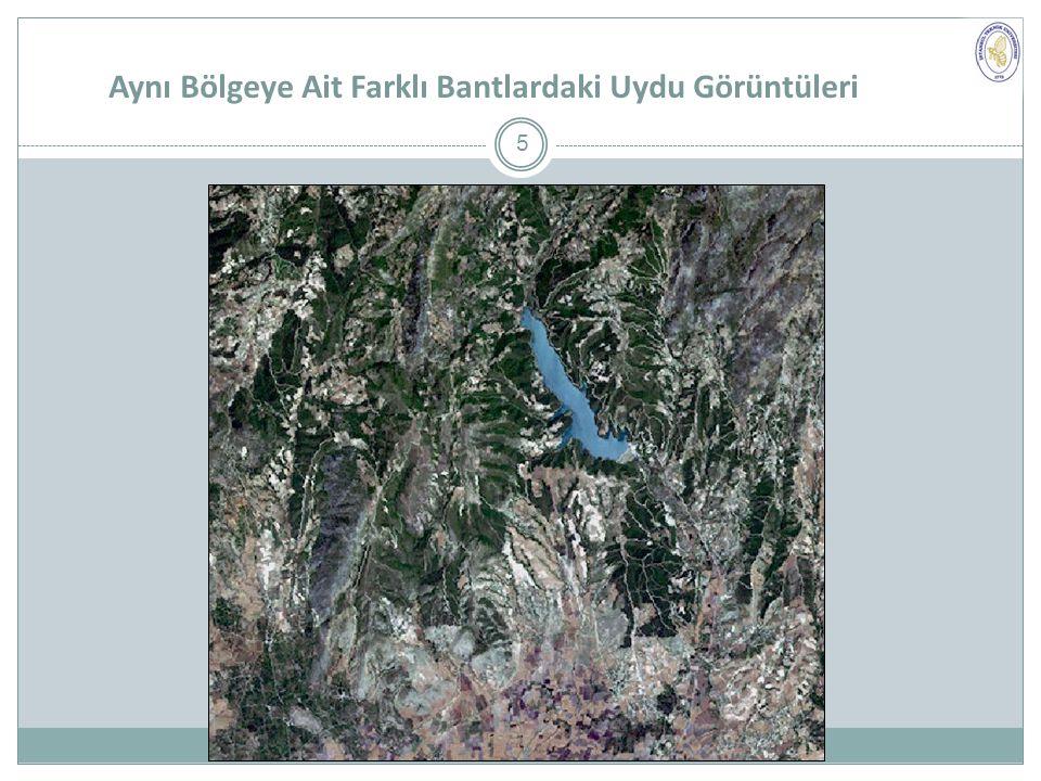 Aynı Bölgeye Ait Farklı Bantlardaki Uydu Görüntüleri 5
