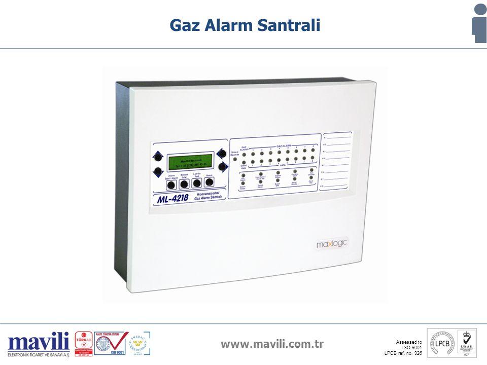 www.mavili.com.tr Assessed to ISO 9001 LPCB ref. no. 926 Gaz Alarm Santrali