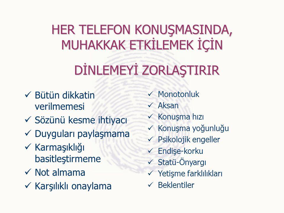 HER TELEFON KONUŞMASINDA, MUHAKKAK ETKİLEMEK İÇİN 8.KENDİ YERGUNLUKVE STRESİMİZİ YANSITMAMAK İÇİN ÇARELER STRESDEN KURTULMA YOLLARI A.YANLIŞ VE TEHLİK
