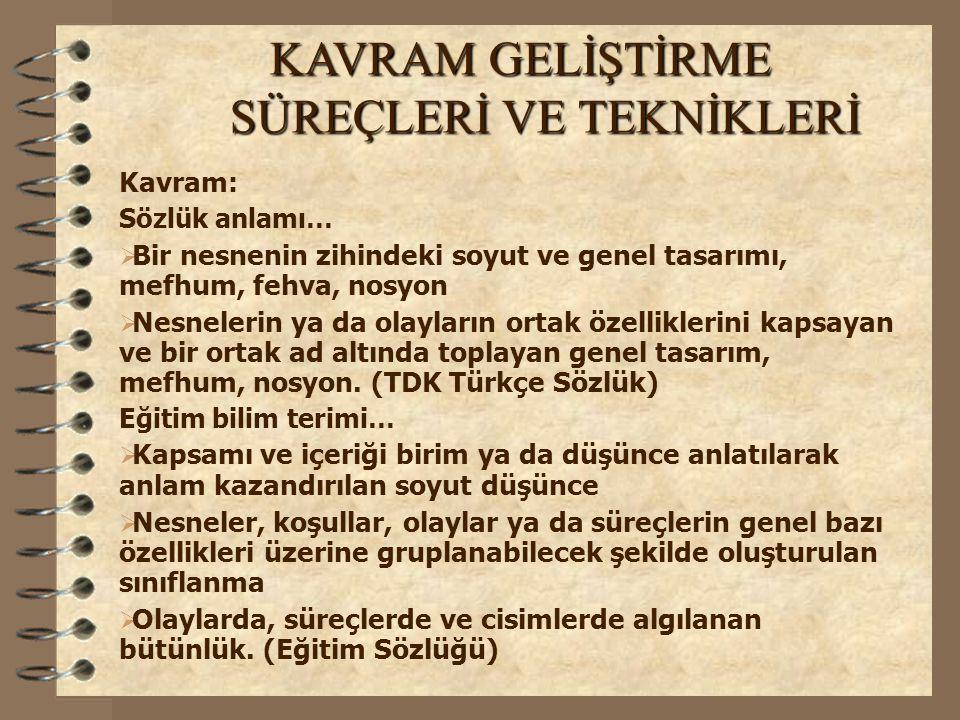 KAVRAM YANILGILARI GENEL ÖZELLİKLERİ 4.