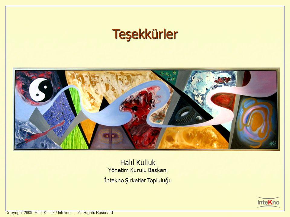 Teşekkürler Copyright 2009, Halil Kulluk / Intekno - All Rights Reserved Halil Kulluk Yönetim Kurulu Başkanı İntekno Şirketler Topluluğu