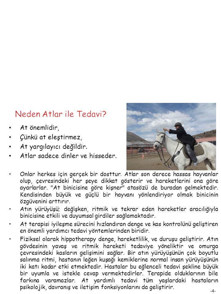 -4- At önemlidir, Çünkü at eleştirmez, At yargılayıcı değildir.