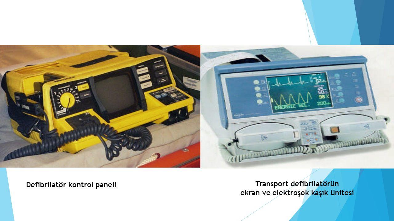 Defibrilatör kontrol paneli Transport defibrilatörün ekran ve elektroşok kaşık ünitesi