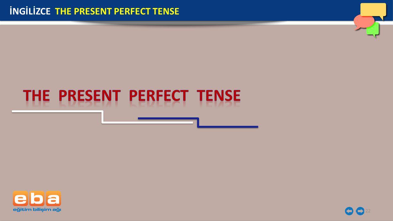 22 İNGİLİZCE THE PRESENT PERFECT TENSE