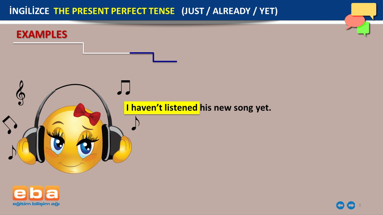 19 İNGİLİZCE THE PRESENT PERFECT TENSE I've played the violin twice.