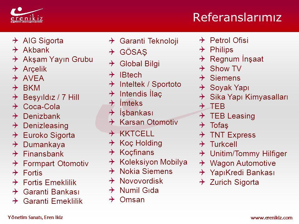 www.erenikiz.com Yönetim Sanatı, Eren Ikiz  AIG Sigorta  Akbank  Akşam Yayın Grubu  Arçelik  AVEA  BKM  Beşyıldız / 7 Hill  Coca-Cola  Denizb