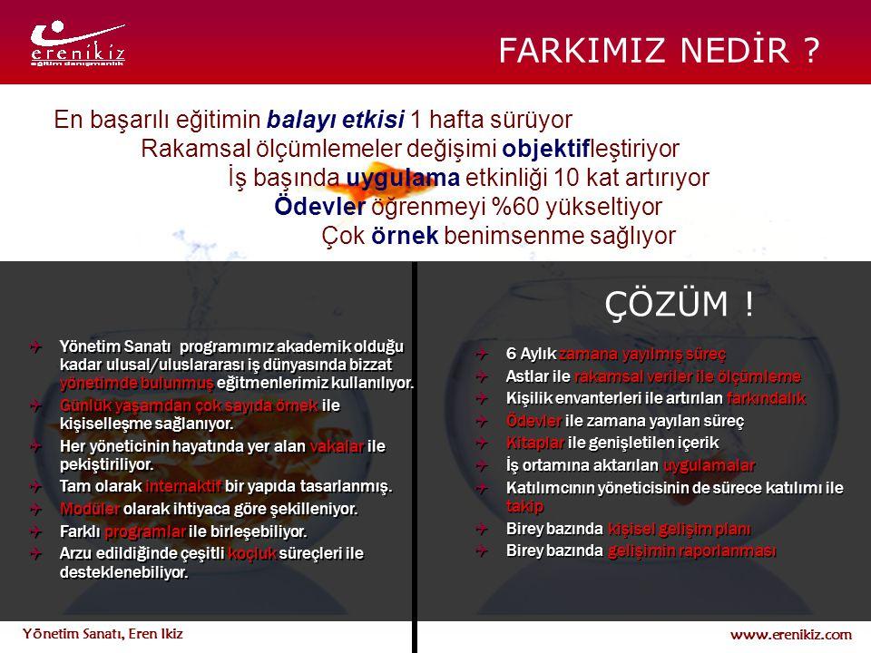 www.erenikiz.com Yönetim Sanatı, Eren Ikiz FARKIMIZ NEDİR ?  Yönetim Sanatı programımız akademik olduğu kadar ulusal/uluslararası iş dünyasında bizza