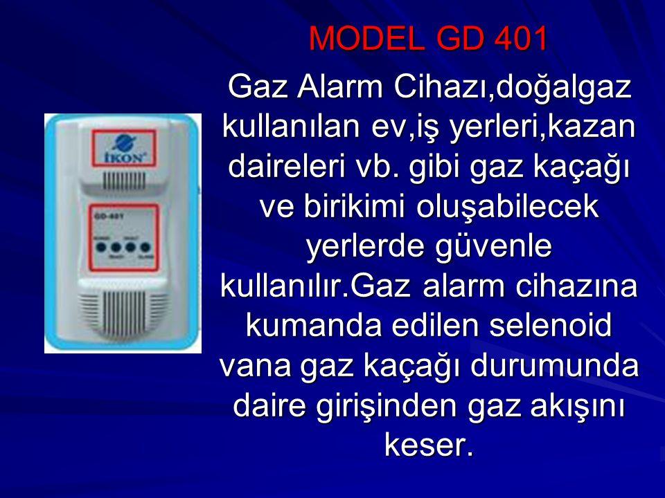MODEL GD 401 Gaz Alarm Cihazı,doğalgaz kullanılan ev,iş yerleri,kazan daireleri vb.