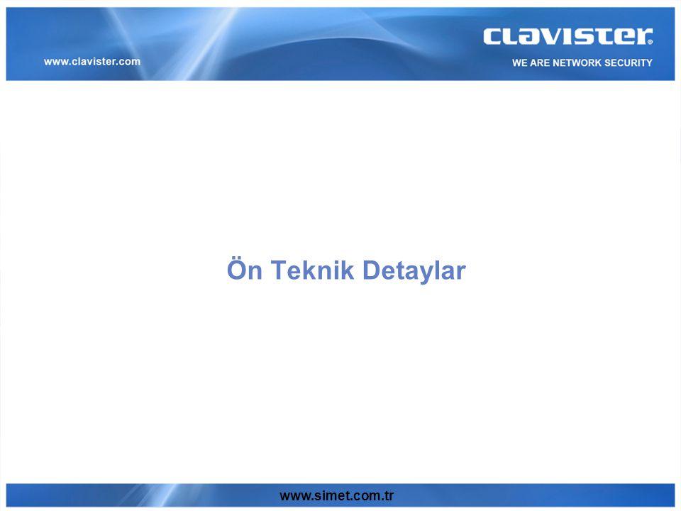 www.simet.com.tr Ön Teknik Detaylar