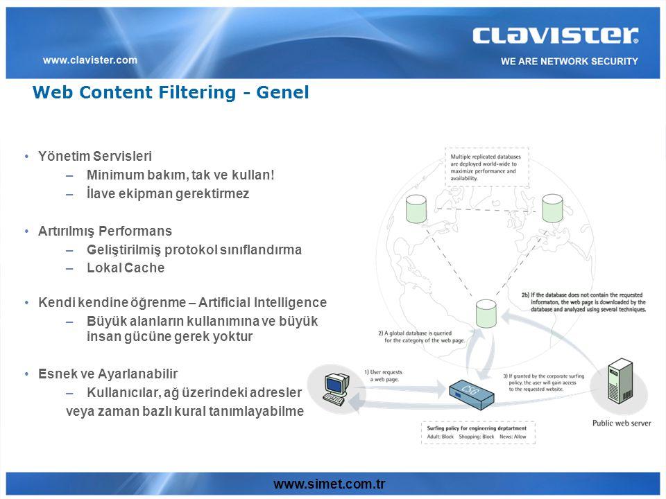 www.simet.com.tr Web Content Filtering - Genel Yönetim Servisleri –Minimum bakım, tak ve kullan.