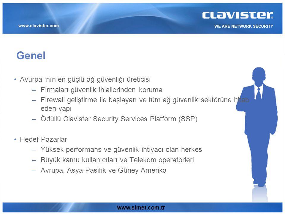 Clavister Web Content Filtering Clavister Content Filter Yönetilebilir servis kontrolü: İnternet kaynaklarına erişim.