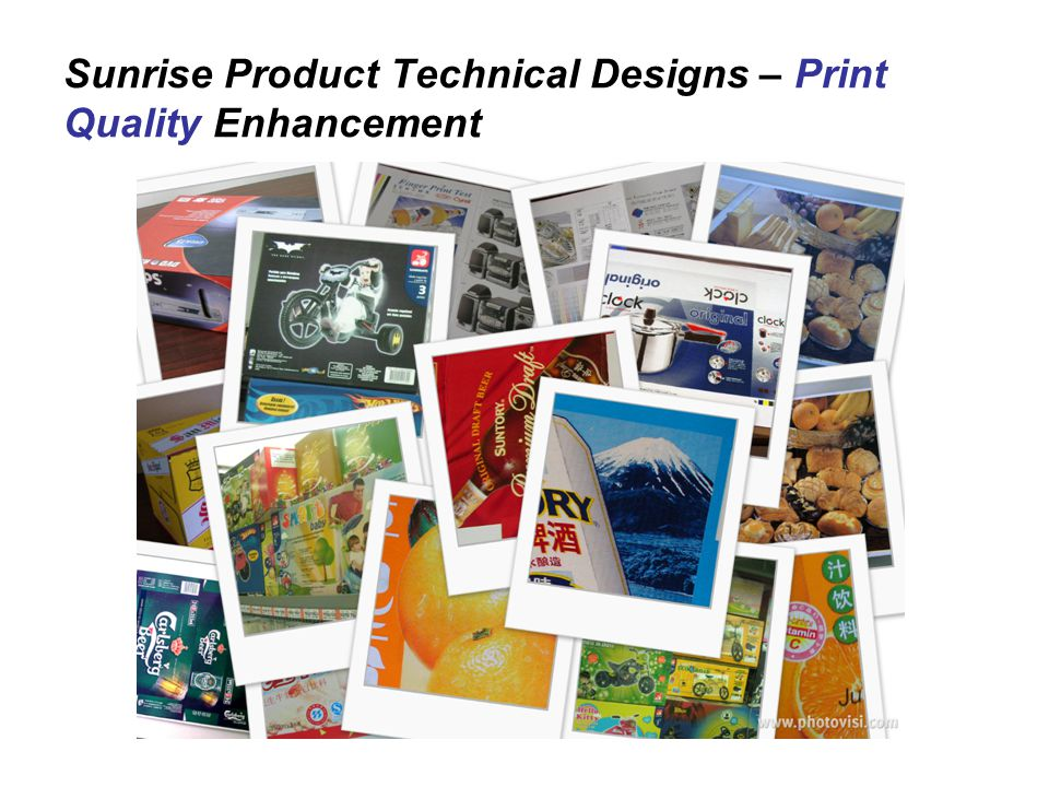 Sunrise Product Technical Designs – Print Quality Enhancement