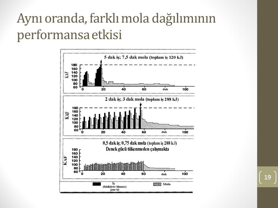 Aynı oranda, farklı mola dağılımının performansa etkisi 19