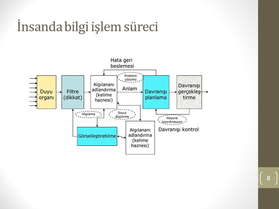 İnsanda bilgi işlem süreci 8