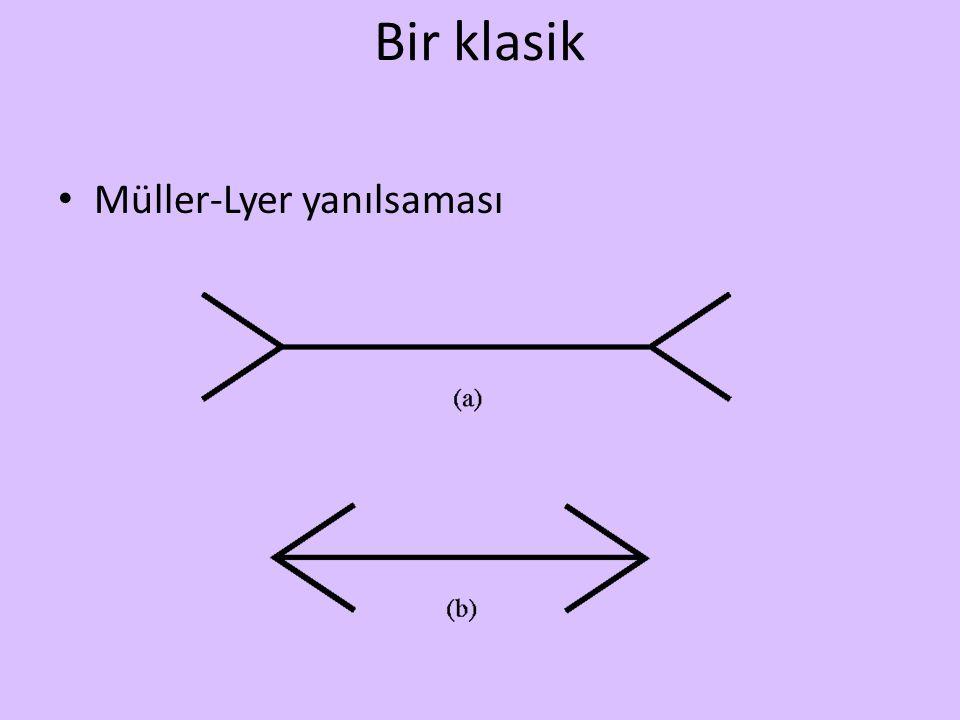 Bir klasik Müller-Lyer yanılsaması