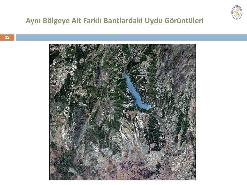 Aynı Bölgeye Ait Farklı Bantlardaki Uydu Görüntüleri 22