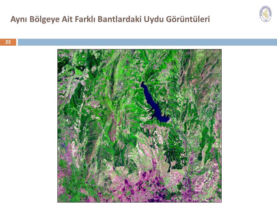 Aynı Bölgeye Ait Farklı Bantlardaki Uydu Görüntüleri 23