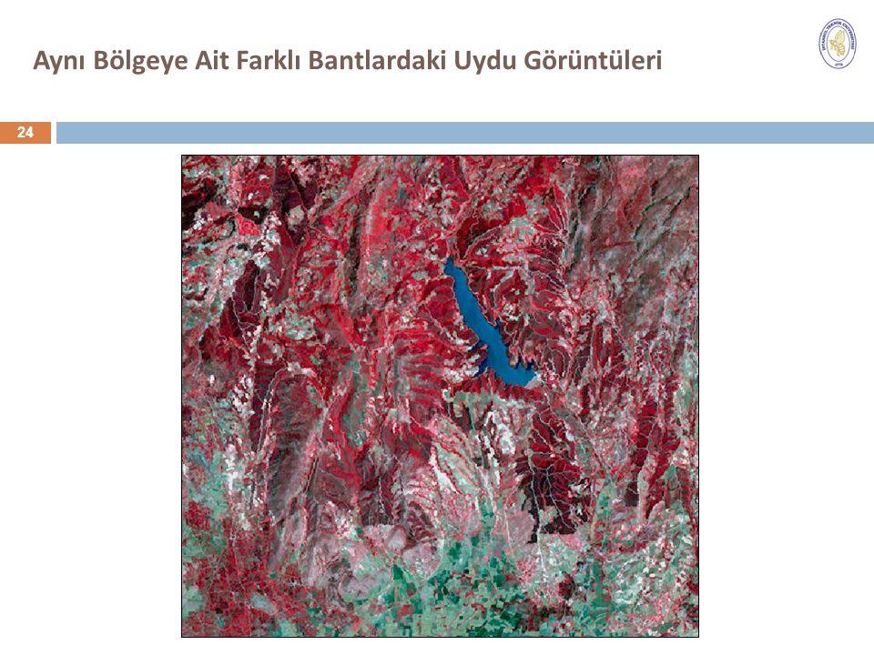 Aynı Bölgeye Ait Farklı Bantlardaki Uydu Görüntüleri 24