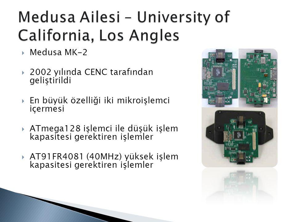  Medusa MK-2  2002 yılında CENC tarafından geliştirildi  En büyük özelliği iki mikroişlemci içermesi  ATmega128 işlemci ile düşük işlem kapasitesi