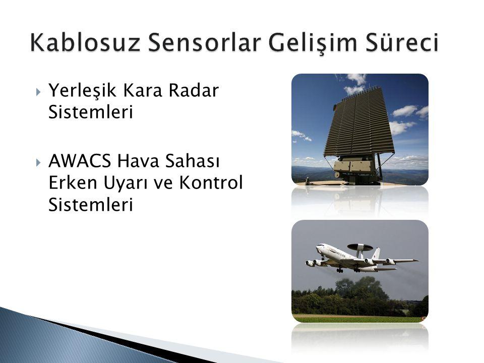  Yerleşik Kara Radar Sistemleri  AWACS Hava Sahası Erken Uyarı ve Kontrol Sistemleri