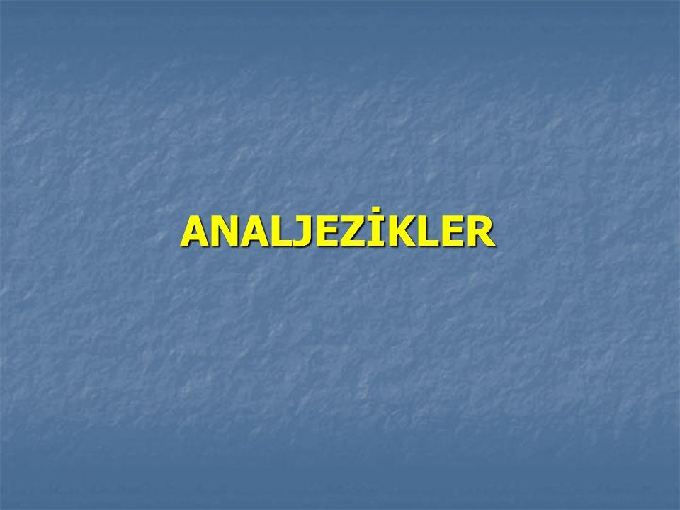 ANALJEZİKLER ANALJEZİKLER
