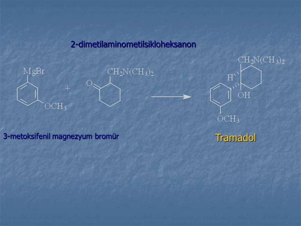 3-metoksifenil magnezyum bromür 2-dimetilaminometilsikloheksanon Tramadol