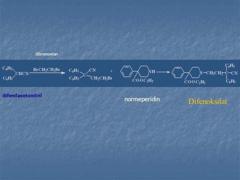 difenilasetonitril dibromoetan normeperidin Difenoksilat