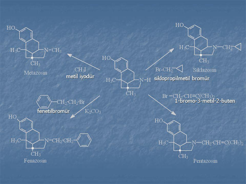 1-bromo-3-metil-2-buten fenetilbromür siklopropilmetil bromür metil iyodür