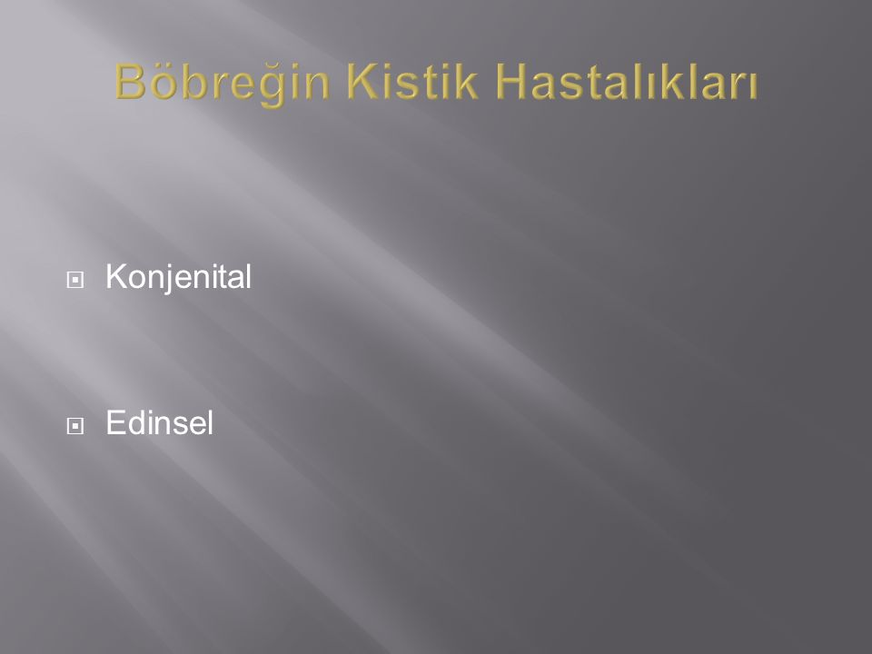  Konjenital  Edinsel
