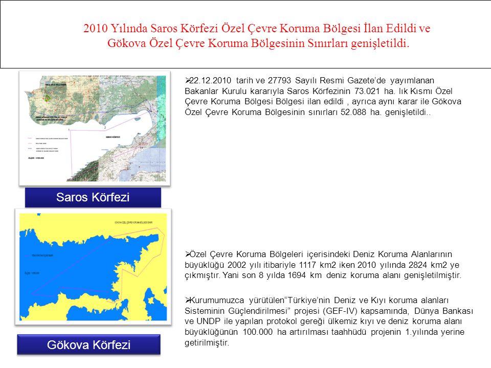 2010 Yılında Saros Körfezi Özel Çevre Koruma Bölgesi İlan Edildi ve Gökova Özel Çevre Koruma Bölgesinin Sınırları genişletildi. Saros Körfezi Gökova K