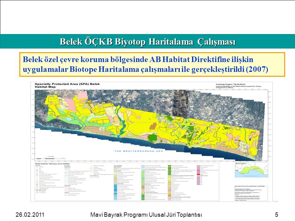 HAFIZAMIZI TAZELEYELİM Belek ÖÇKB Biyotop Haritalama Çalışması 5 Belek özel çevre koruma bölgesinde AB Habitat Direktifine ilişkin uygulamalar Biotope