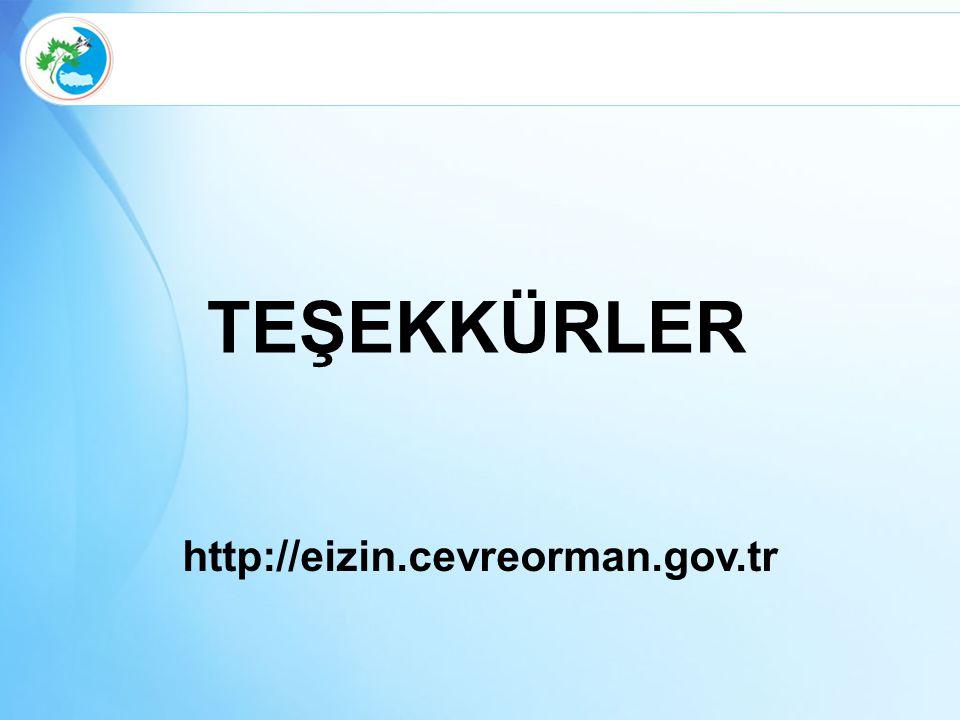 http://eizin.cevreorman.gov.tr TEŞEKKÜRLER