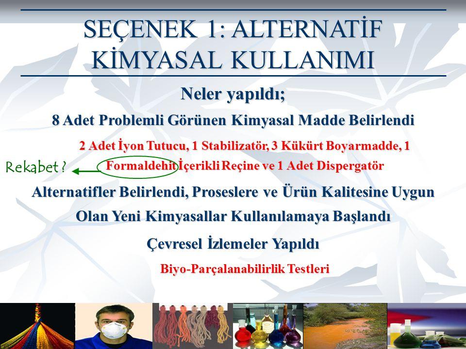 Prof. Dr. Göksel N. Demirer, Çevre Mühendisliği Bölümü Orta Doğu Teknik Üniversitesi, Ankara SEÇENEK 1: ALTERNATİF KİMYASAL KULLANIMI Neler yapıldı; 8