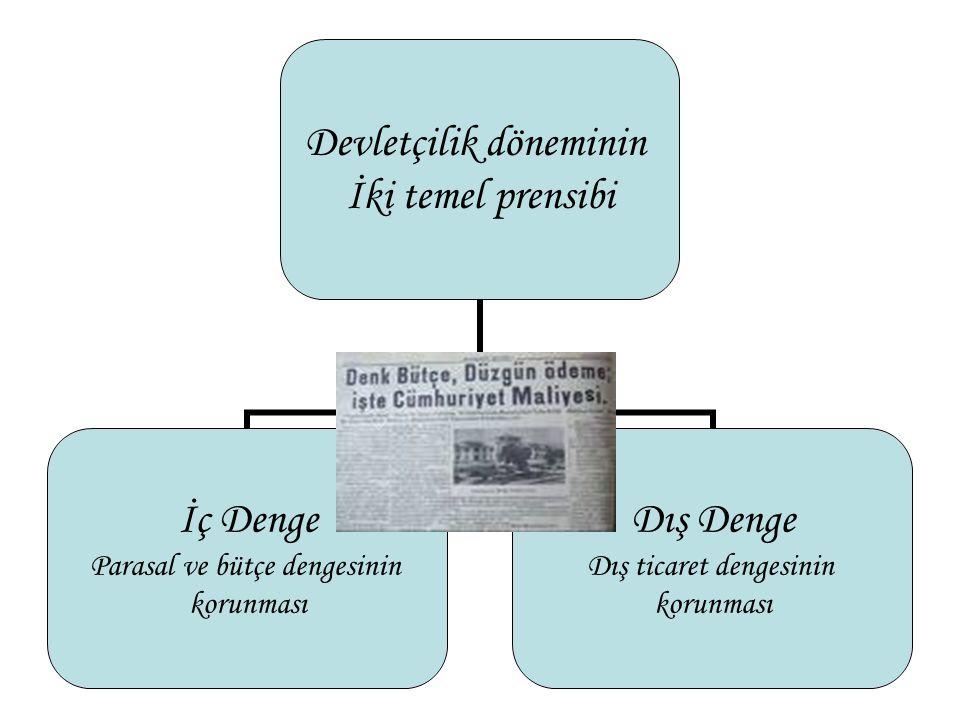 Devletçi Politikanın (1932-39) Genel Özellikleri Devletçi iktisat politikası iki biçimde yürütülmektedir: 1.Devlet işletmeciliği 2.İktisadi hayatın fiyat mekanizmasını, dış ticareti kontrol yoluyla düzenlemesi