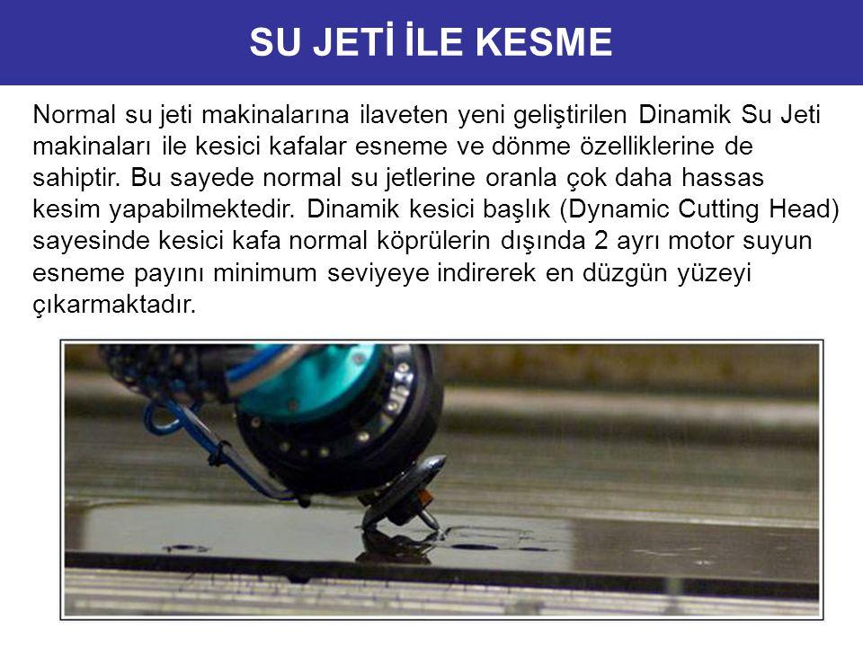 Normal su jeti makinalarına ilaveten yeni geliştirilen Dinamik Su Jeti makinaları ile kesici kafalar esneme ve dönme özelliklerine de sahiptir. Bu say