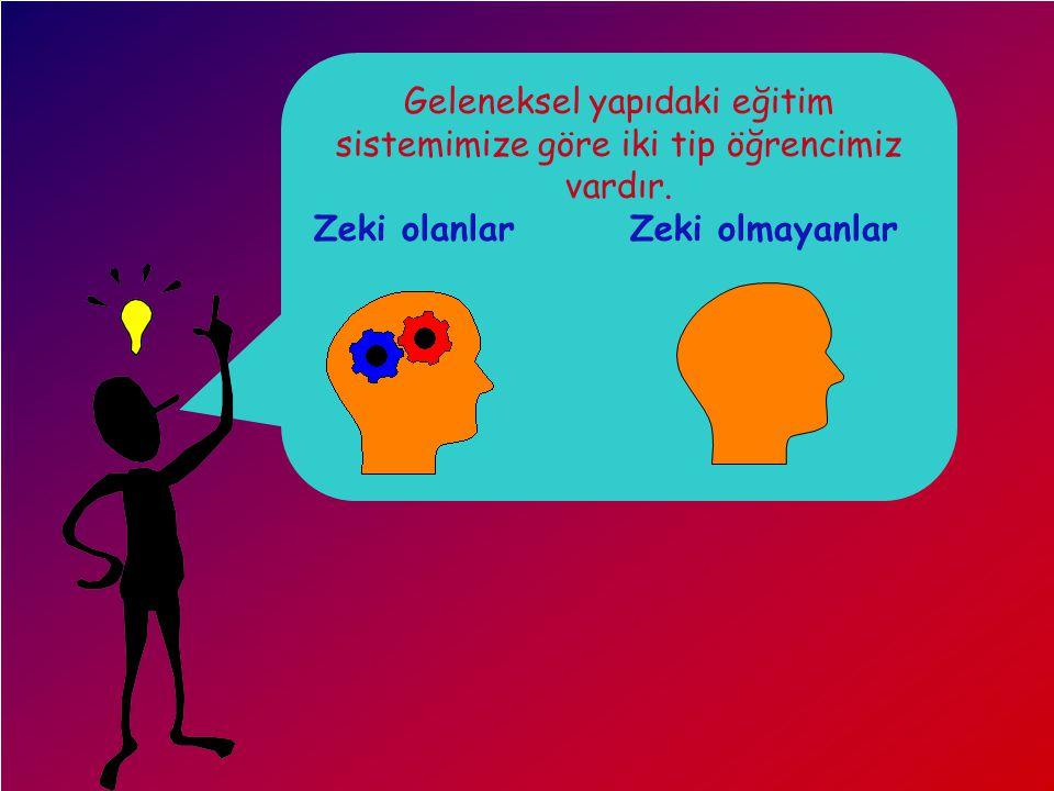 4- Matematiksel/Mantıksal Zeka : Bilimsel düşünme, objektif gözlem yapma, elde edilen verilerden sonuç çıkarma, yargıya varma ve hipotez kurma yeteneklerini içeren bu zeka türü,