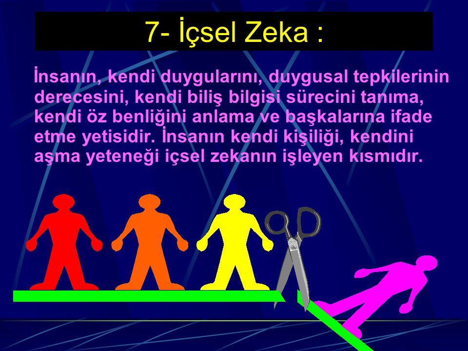 Sosyal Zeka ile öğrenenler; -Arkadaşları ile birlikte olma eğilimine, -İkna etme becerisine, -Kulüp, dernek ve komitelerde zevkle çalışma eğilimine, -