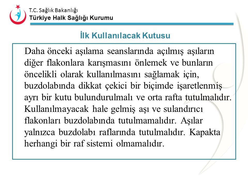 T.C. Sağlık Bakanlığı Türkiye Halk Sağlığı Kurumu –Her yıl, ilin soğuk zincir malzemesi mevcudu, periyodik bakım ve tamir gerektirenler ile yeni malze
