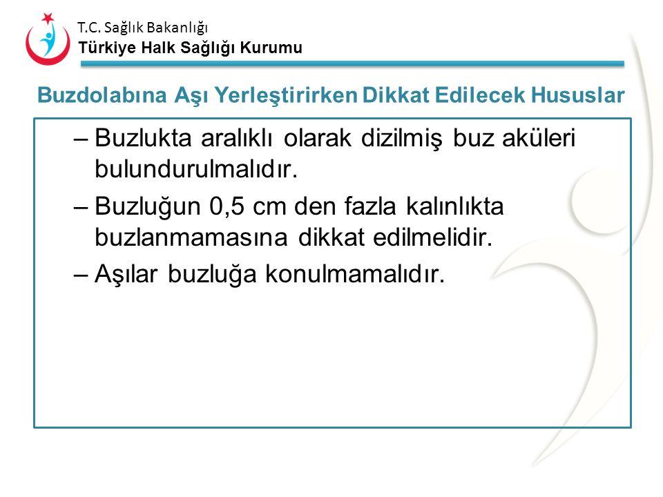 T.C. Sağlık Bakanlığı Türkiye Halk Sağlığı Kurumu Aşı flakonları ve paketleri, aralarında yeterli hava akımı dolaşacak şekilde yerleştirilmelidir. –Do