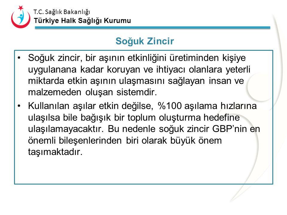 T.C. Sağlık Bakanlığı Türkiye Halk Sağlığı Kurumu Sürekli ısı kaydeden sistemlerin kullanılmalıdır. Tüm aşı depo ve dolaplarında en az bir adet kalibr