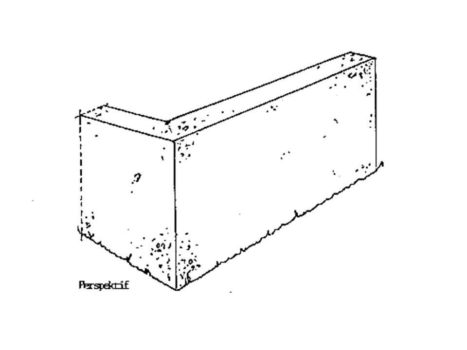 Beton ve Betonarme Duvarlar: Beton Duvarlar: Genelde yığma yapılarda ve kârgir binalarda ve istinat duvarlarında temel ve bodrum kat duvarlarında, kalınlığı 20.00 cm.