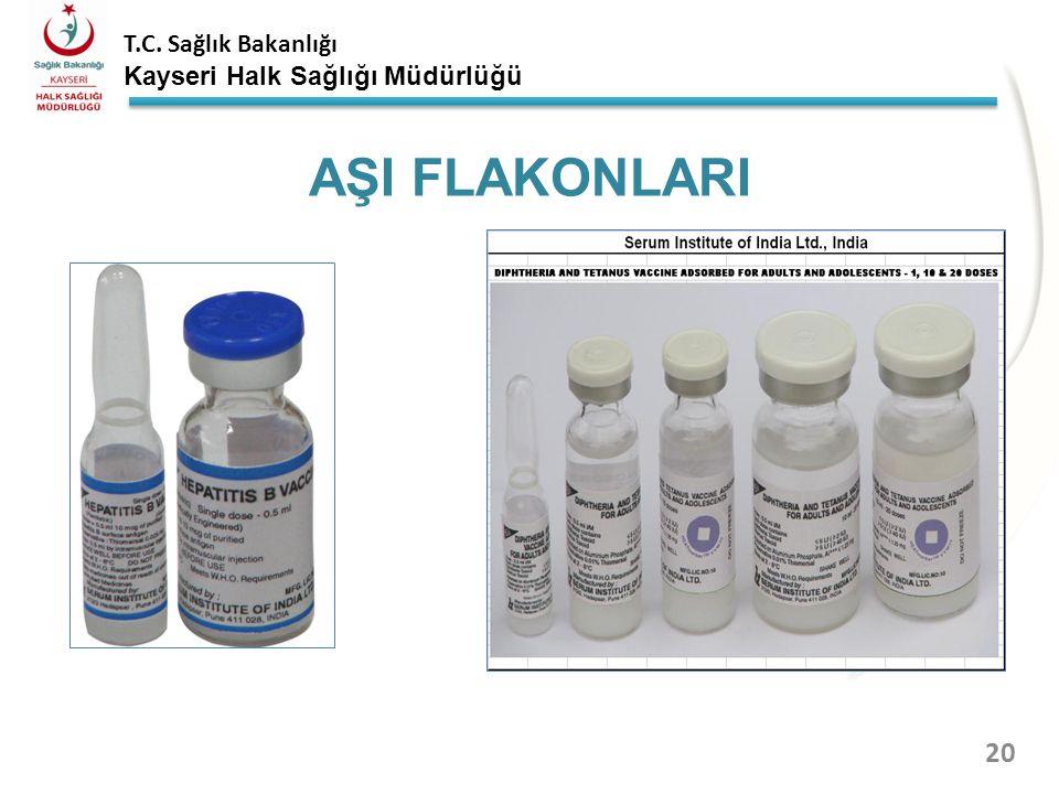 T.C. Sağlık Bakanlığı Kayseri Halk Sağlığı Müdürlüğü AŞI FLAKONLARI 19