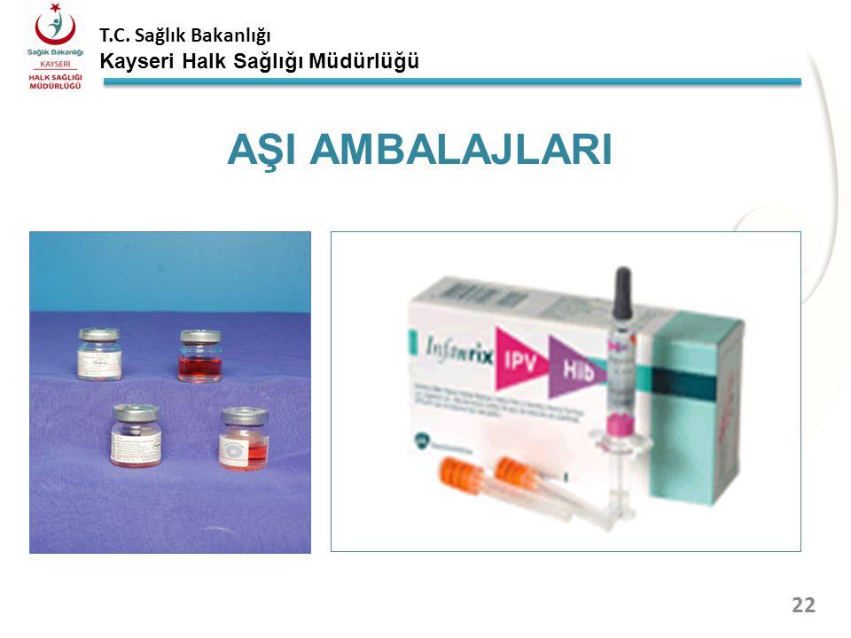 T.C. Sağlık Bakanlığı Kayseri Halk Sağlığı Müdürlüğü AŞI AMBALAJLARI 21