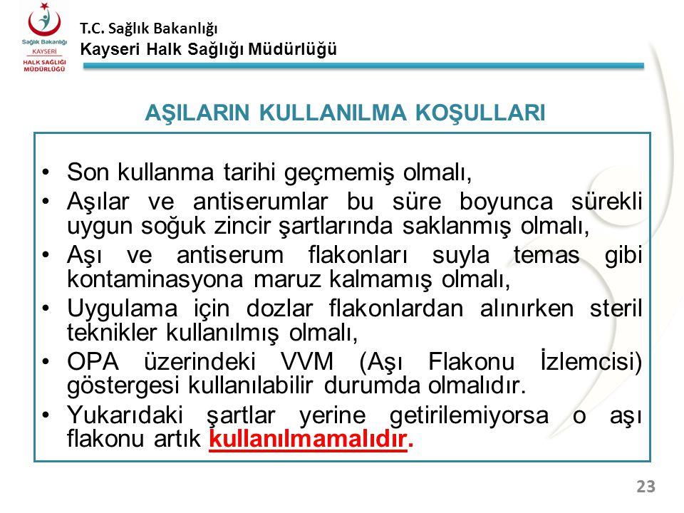 T.C. Sağlık Bakanlığı Kayseri Halk Sağlığı Müdürlüğü AŞI AMBALAJLARI 22