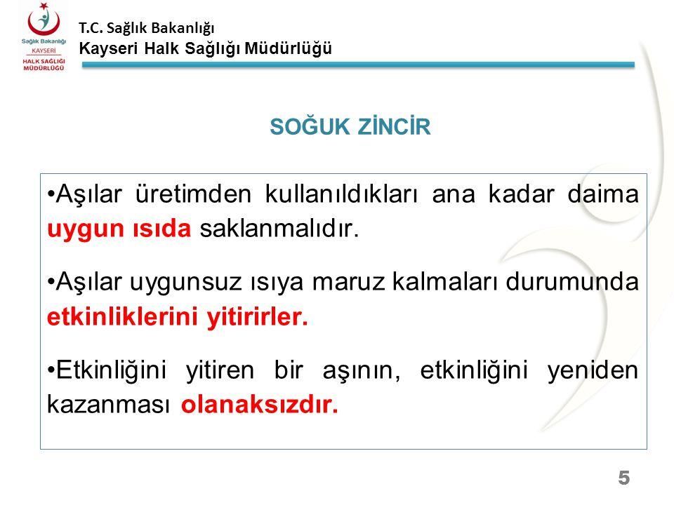 T.C. Sağlık Bakanlığı Kayseri Halk Sağlığı Müdürlüğü AŞI NAKİL ARAÇLARI 15