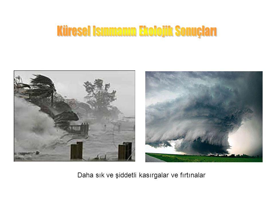 Daha sık ve şiddetli kasırgalar ve fırtınalar
