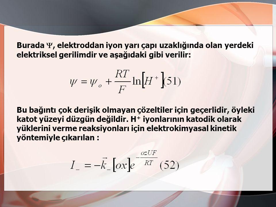 Bu kuram özellikle Erdey-Gruz ve Volmer (1930)tarafından geliştirilmiştir.Ama bu kuramın ilk ilkelerine göre aşırı gerilim çözeltinin pH'ına bağlıdır.