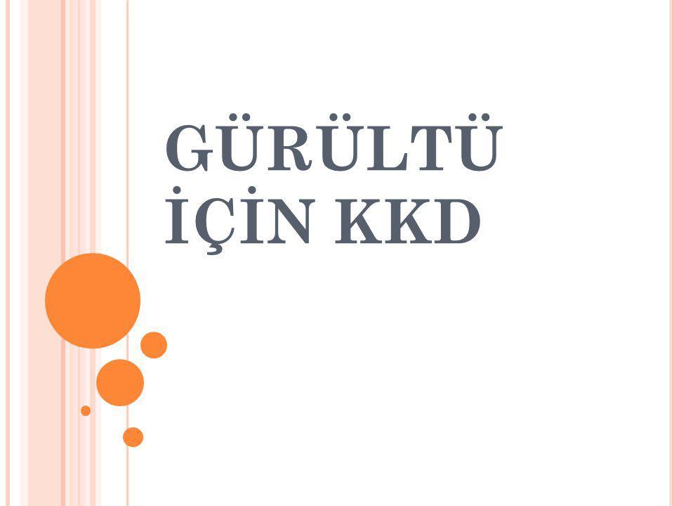 GÜRÜLTÜ KONTROL YÖNETMELİĞİ R.G.